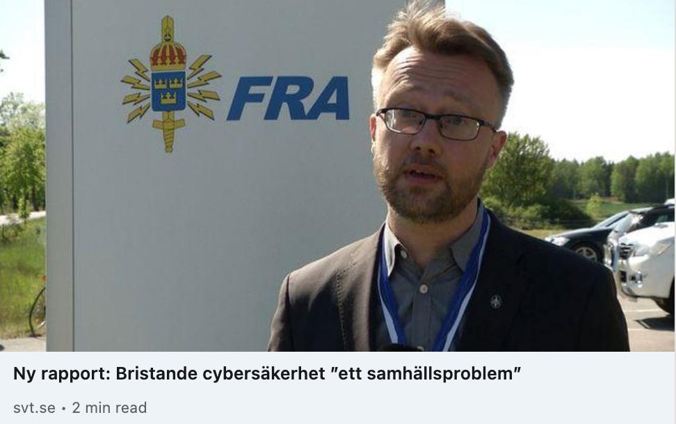 """Läs mer om artikeln Bristande cybersäkerhet ett """"samhällsproblem"""""""